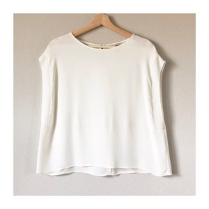 LIKE NEW | H&M Cropped Cream Blouse